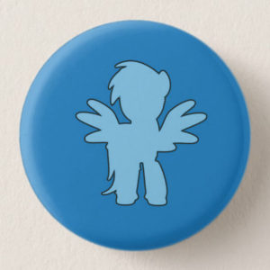 Dark Blue Mini-Horse Mini-Button -- We Do Geek