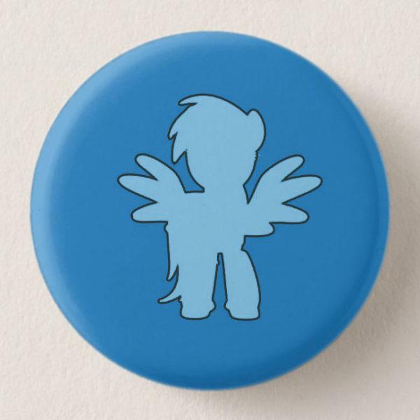 Dark Blue Mini-Horse Mini-Button -- We Do Geek