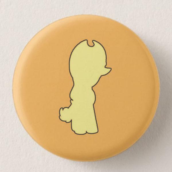 Orange Mini-Horse Mini-Button -- We Do Geek