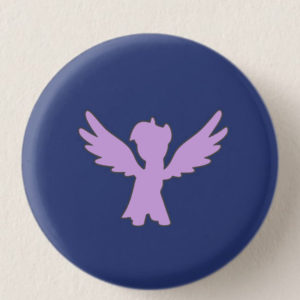Dark Violet Mini-Horse Mini-Button -- We Do Geek