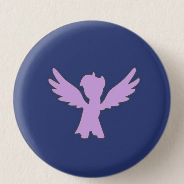 Dark Violet Mini-Horse Mini-Button -- We Do Geek