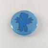 Light Blue Mini-Horse Mini-Button -- We Do Geek