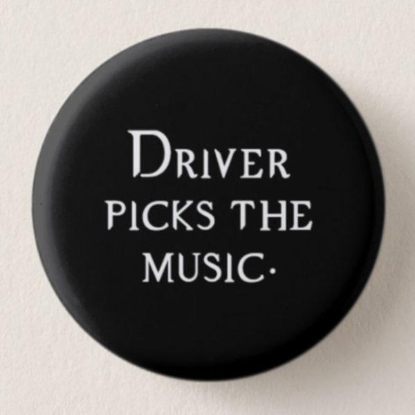 Driver Picks the Music Mini-Button -- We Do Geek