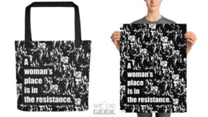 A New Design in our We Do Geek Shop -- News -- Geeky Tote Bag and Art Poster --- We Do Geek