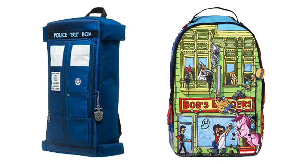 Back to School Backpacks and More -- Home and Family -- Dr Who Backpack & Bob's Burgers Backpack --- We Do Geek
