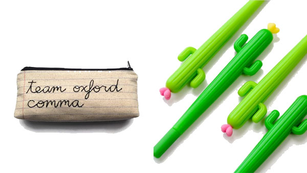 Back to School Backpacks and More -- Home and Family -- Geek Pencil Case and Cactus Novelty Pens --- We Do Geek