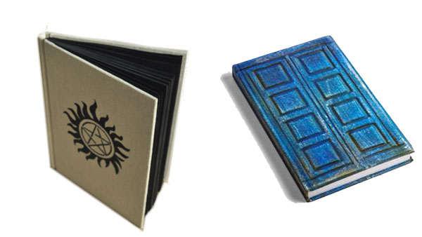 Back to School Backpacks and More -- Home and Family -- Supernatural Notebook and Dr Who Notebooks --- We Do Geek