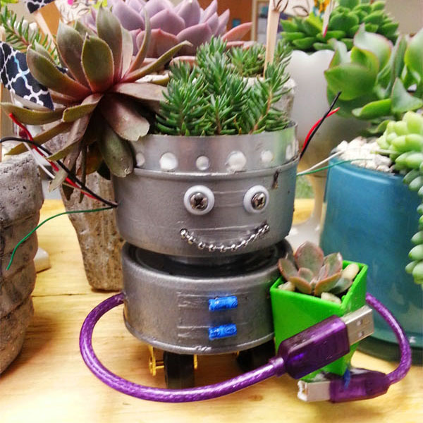 Geek Planter Ideas -- Home and Family -- DIY Robot --- We Do Geek