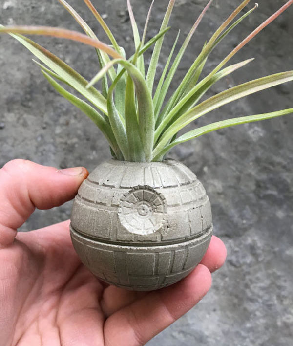 Geek Planter Ideas -- Home and Family -- Death Star --- We Do Geek