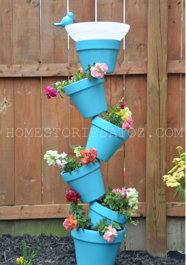 Geek Planter Ideas -- Home and Family -- Tipsy Tower Planter Pots --- We Do Geek