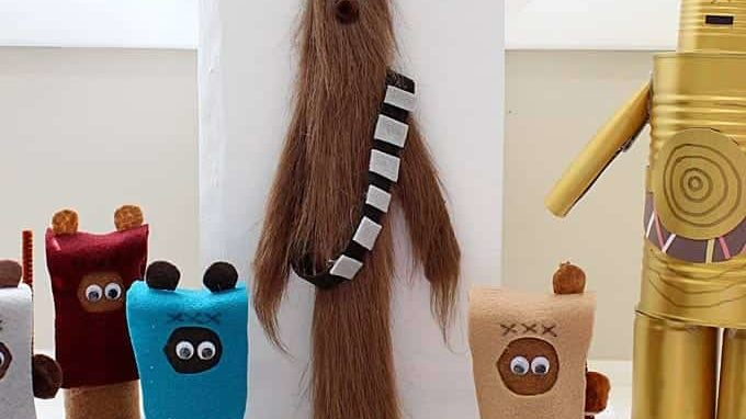 Crafts -- Paint Stick Chewbacca - Celebrating May 4th with a Giveaway
