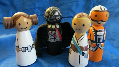 Crafts -- Star Wars Peg Dolls - Celebrating May 4th with a Giveaway